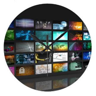Multimedia Background for Digital Network Large Clock