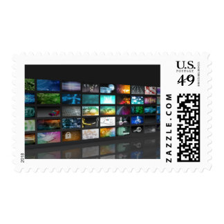 Multimedia Background for Digital Network Postage