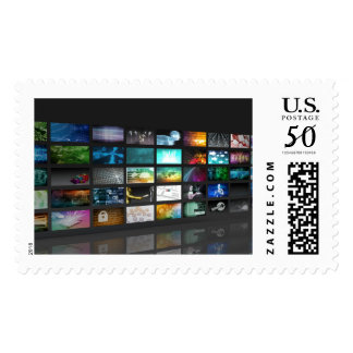 Multimedia Background for Digital Network Postage