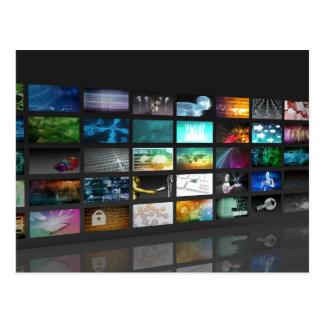 Multimedia Background for Digital Network Postcard