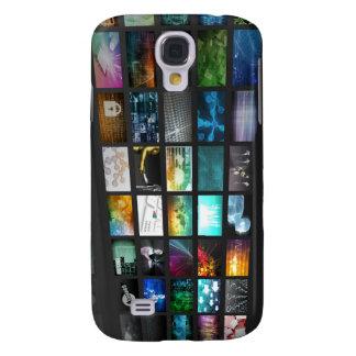 Multimedia Background for Digital Network Samsung Galaxy S4 Case