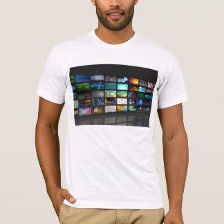 Multimedia Background for Digital Network T-Shirt