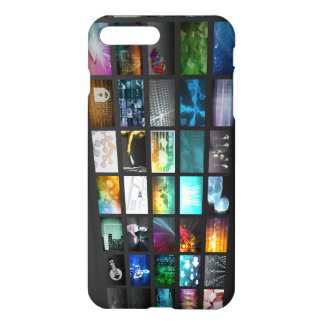 Multimedia Background for Network iPhone 8 Plus/7 Plus Case