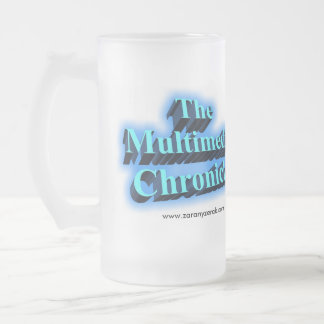 Multimedia Chronicles Beer Steins 16 Oz Frosted Glass Beer Mug