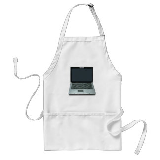 multimedia notebook computer adult apron