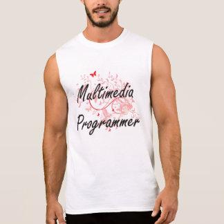Multimedia Programmer Artistic Job Design with But Sleeveless Shirt