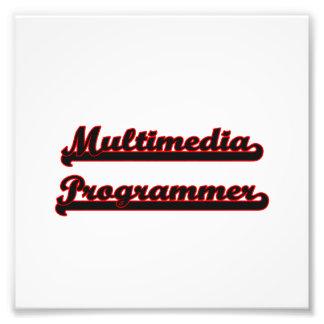 Multimedia Programmer Classic Job Design Photo Print