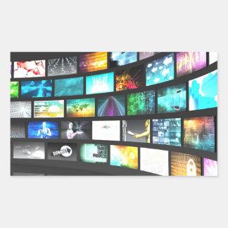 Multimedia Technology Digital Devices Information Rectangular Sticker