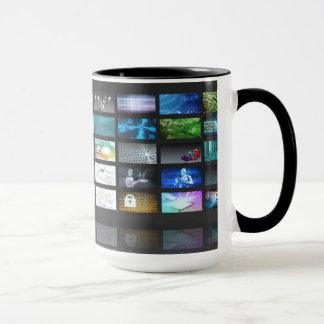 Multimedia Technology with Woman Staring at Screen Mug