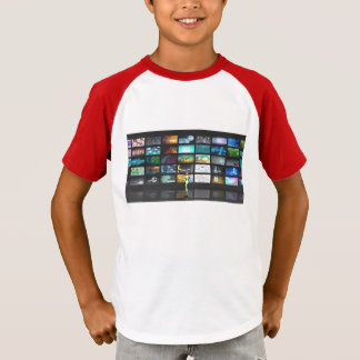 Multimedia Technology with Woman Staring at Screen T-Shirt