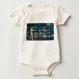 Multimedia Tracking and Competitive Analysis Baby Bodysuit
