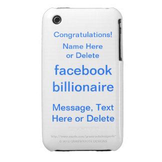 Multimillonario 5 de FaceBook iPhone 3 Case-Mate Coberturas