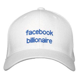 multimillonario del facebook gorra de béisbol bordada