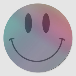Multip colored Smiley Sticker