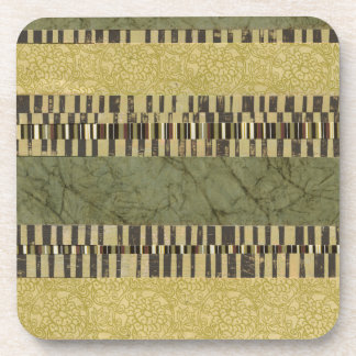 Multipatterned Panel Painting Drink Coaster