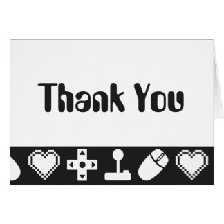 Multiplayer Mode in Black Thank You Card
