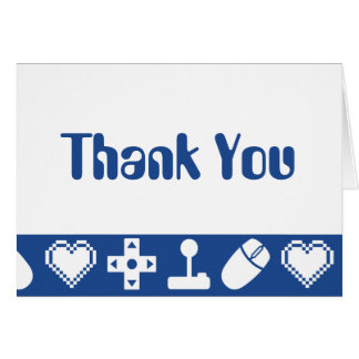 Multiplayer Mode in Blue Thank You Card