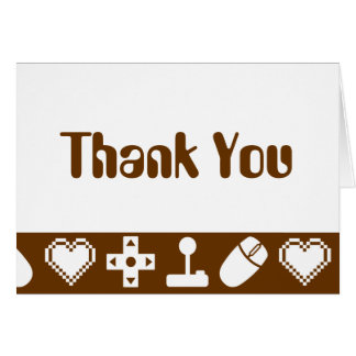 Multiplayer Mode in Chocolate Thank You Card