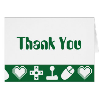 Multiplayer Mode in Green Thank You Card