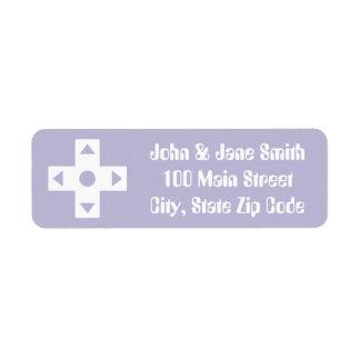 Multiplayer Mode in Lavender Return Address Label