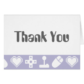 Multiplayer Mode in Lavender Thank You Card