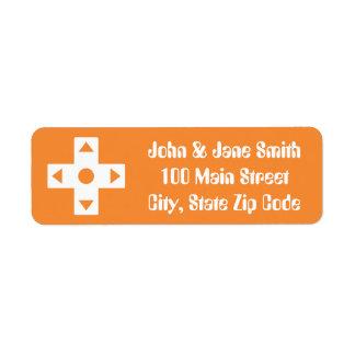 Multiplayer Mode in Orange Return Address Label