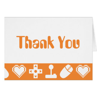 Multiplayer Mode in Orange Thank You Card