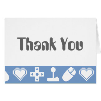 Multiplayer Mode in Periwinkle Thank You Card