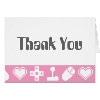 Multiplayer Mode in Petal Pink Thank You Card