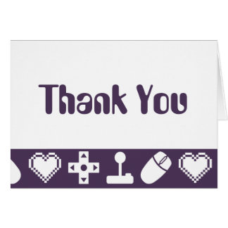 Multiplayer Mode in Purple Thank You Card
