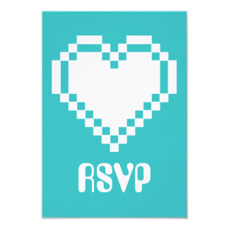 Multiplayer Mode in Turquoise RSVP Card