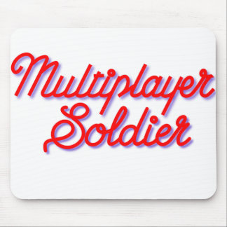Multiplayer Soldier White Mousepad