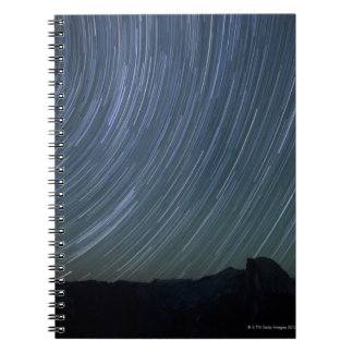 Multiple 208-second exposures are blended to notebook