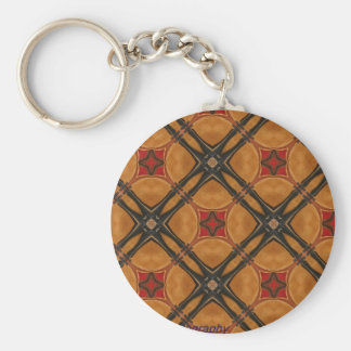 Multiple Abstract Designed Products Basic Round Button Keychain