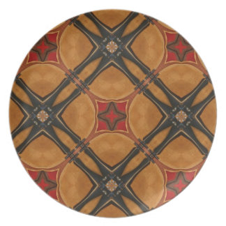 Multiple Abstract Designed Products Plate