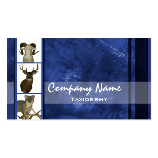 Multiple Animal Taxidermy Business Cards ~ Blue