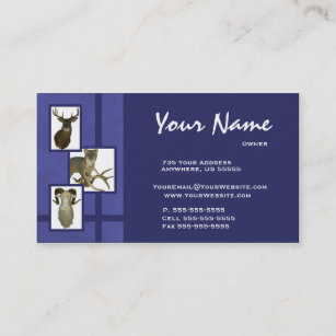 Taxidermy business cards zazzle multiple animal taxidermy business cards d2 blue colourmoves