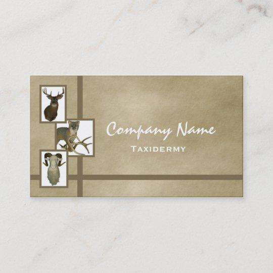 Multiple animal taxidermy business cards d2 tan zazzle multiple animal taxidermy business cards d2 tan colourmoves
