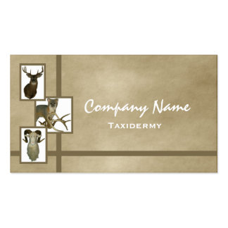 Multiple Animal Taxidermy Business Cards D2 Tan
