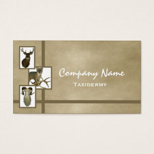 Taxidermy business cards templates zazzle multiple animal taxidermy business cards d2 tan colourmoves