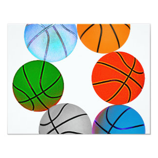 Multiple Basketballs Card