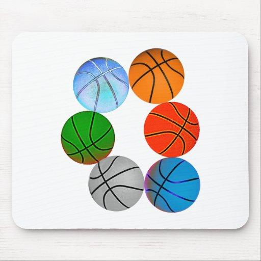 Multiple Basketballs Mouse Pad