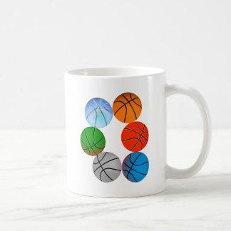 Multiple Basketballs Mug