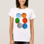 Multiple Basketballs T-Shirt