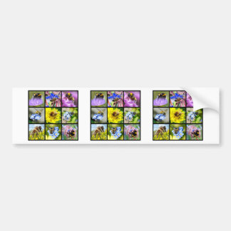 Multiple bees and bumblebees bumper sticker