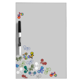 multiple bicycles dry erase board