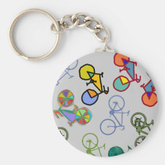 multiple bicycles keychain