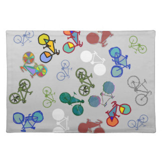 multiple bicycles placemat