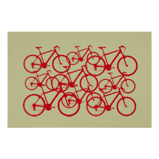 multiple bicycles poster