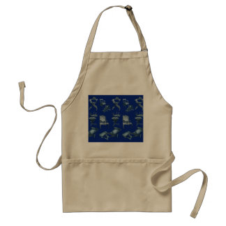 Multiple chairs in dark blue adult apron